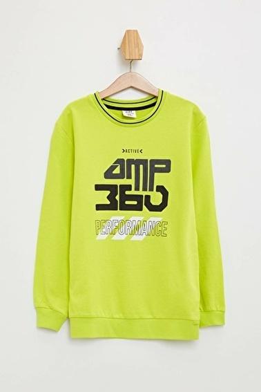 DeFacto Baskılı Sweatshirt Sarı